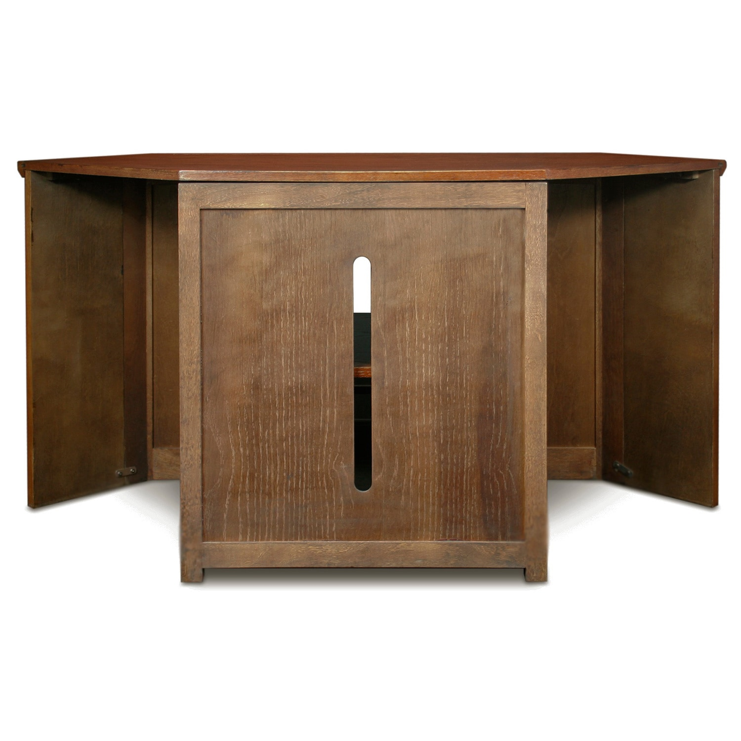 Mission Oak 46 Inch Corner Tv Stand Media Console Free Shipping Today 6056431