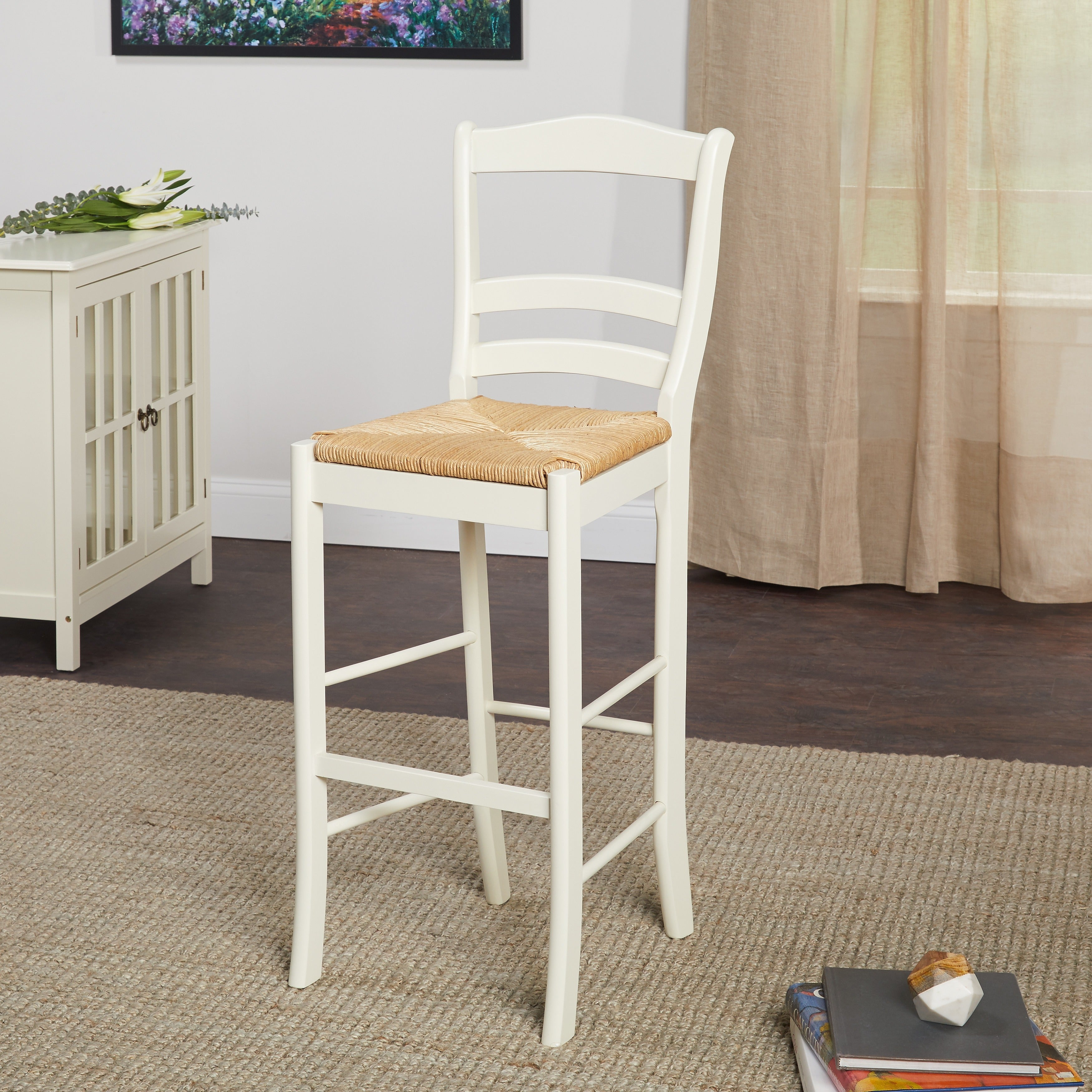 Shop simple living rubber wood 30 inch parker bar stool n a free shipping today overstock com 6070478