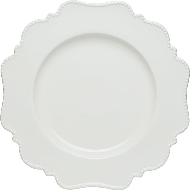 Red Vanilla Pinpoint White Dinner Plates (Set of 6) - Free Shipping Today - Overstock - 13745143  sc 1 st  Overstock.com & Red Vanilla Pinpoint White Dinner Plates (Set of 6) - Free Shipping ...