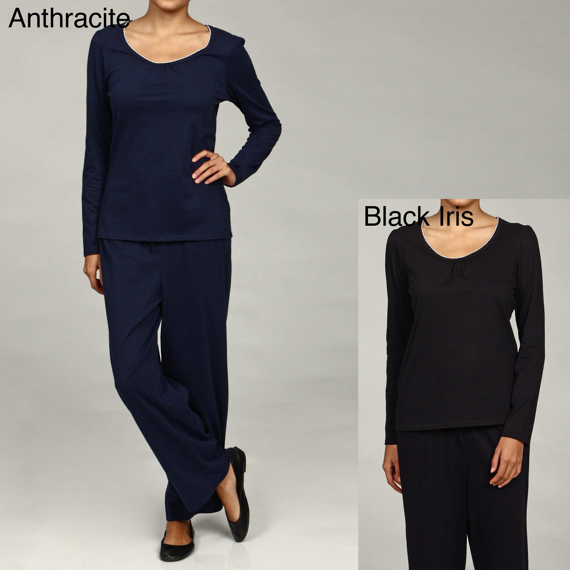 Shop Nautica Women s Sleepwear 2-piece Pajama Set - Free Shipping On Orders  Over  45 - Overstock - 6072693 3feb1d33b