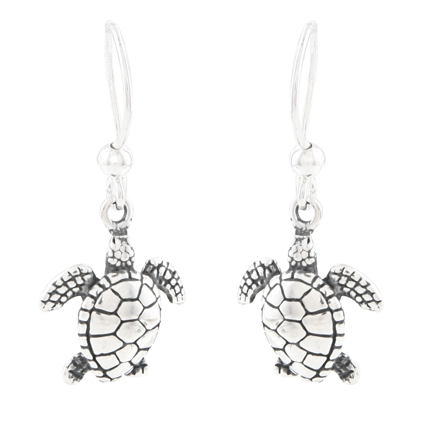 Silvermoon Sterling Silver Sea Turtle Earrings Free Shipping On Orders Over 45 6078074