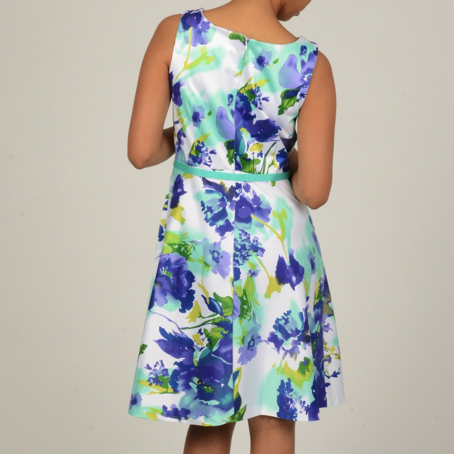139181534 Shop Robbie Bee Women's Floral Printed Shantung Pleated Party Dress - Free  Shipping On Orders Over $45 - Overstock - 6081711