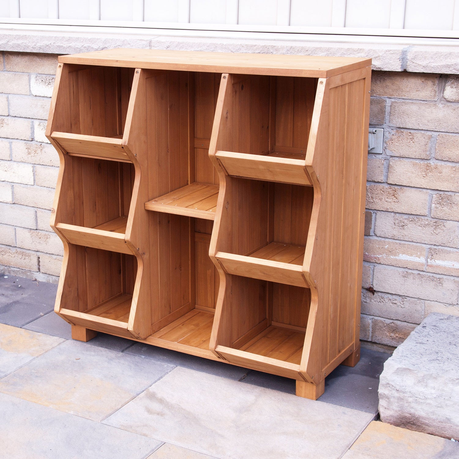 Shop Merry Products Fir Wood 6-shelf Storage Cubby - Free Shipping Today - Overstock.com - 6085187 & Shop Merry Products Fir Wood 6-shelf Storage Cubby - Free Shipping ...