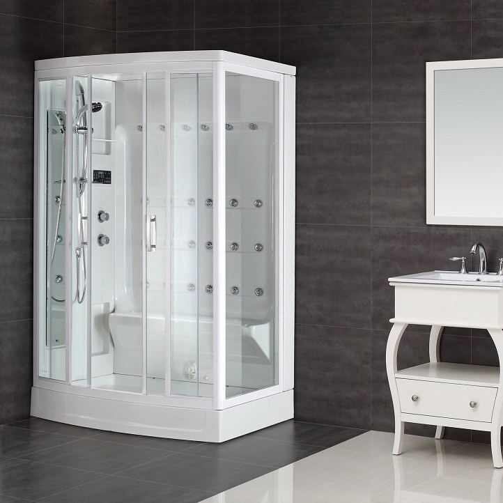 Shop Aston White 24-jet 85-inch Steam Shower - Free Shipping Today ...