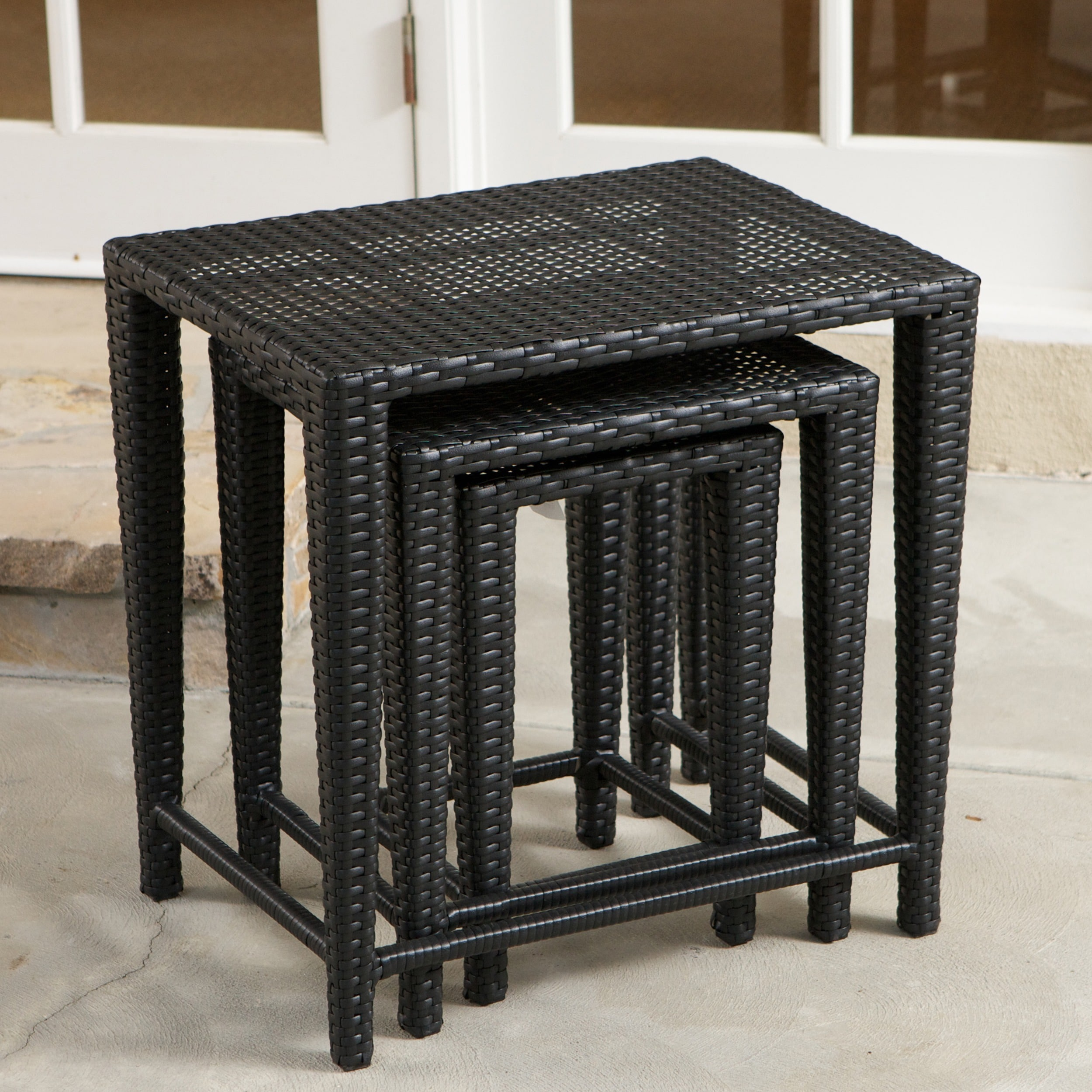 Charmant Shop Outdoor Wicker Nested Tables By Christopher Knight Home (Set Of 3)    On Sale   Ships To Canada   Overstock.ca   6110478