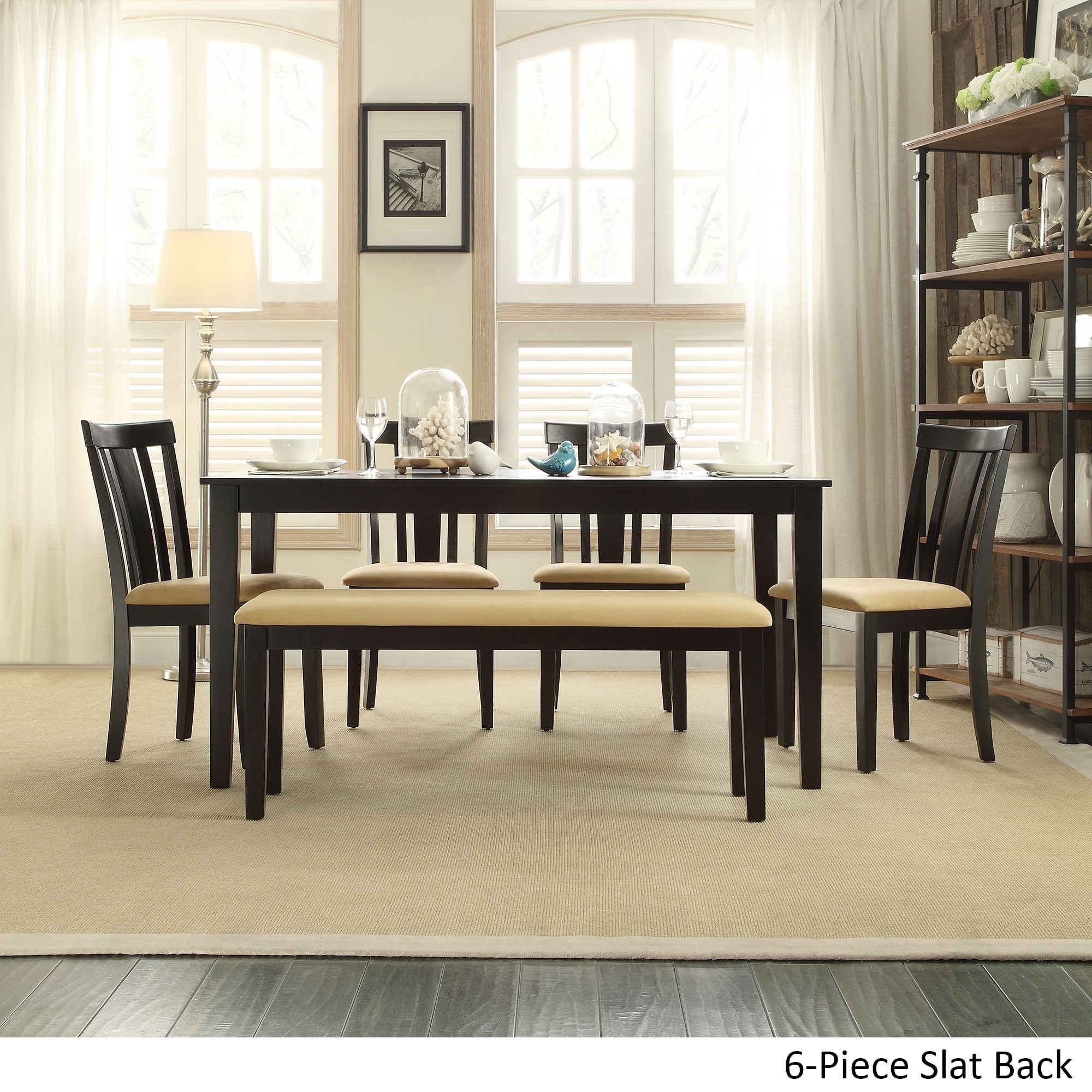 Shop Wilmington Black Dining Set by iNSPIRE Q Classic - On Sale ...
