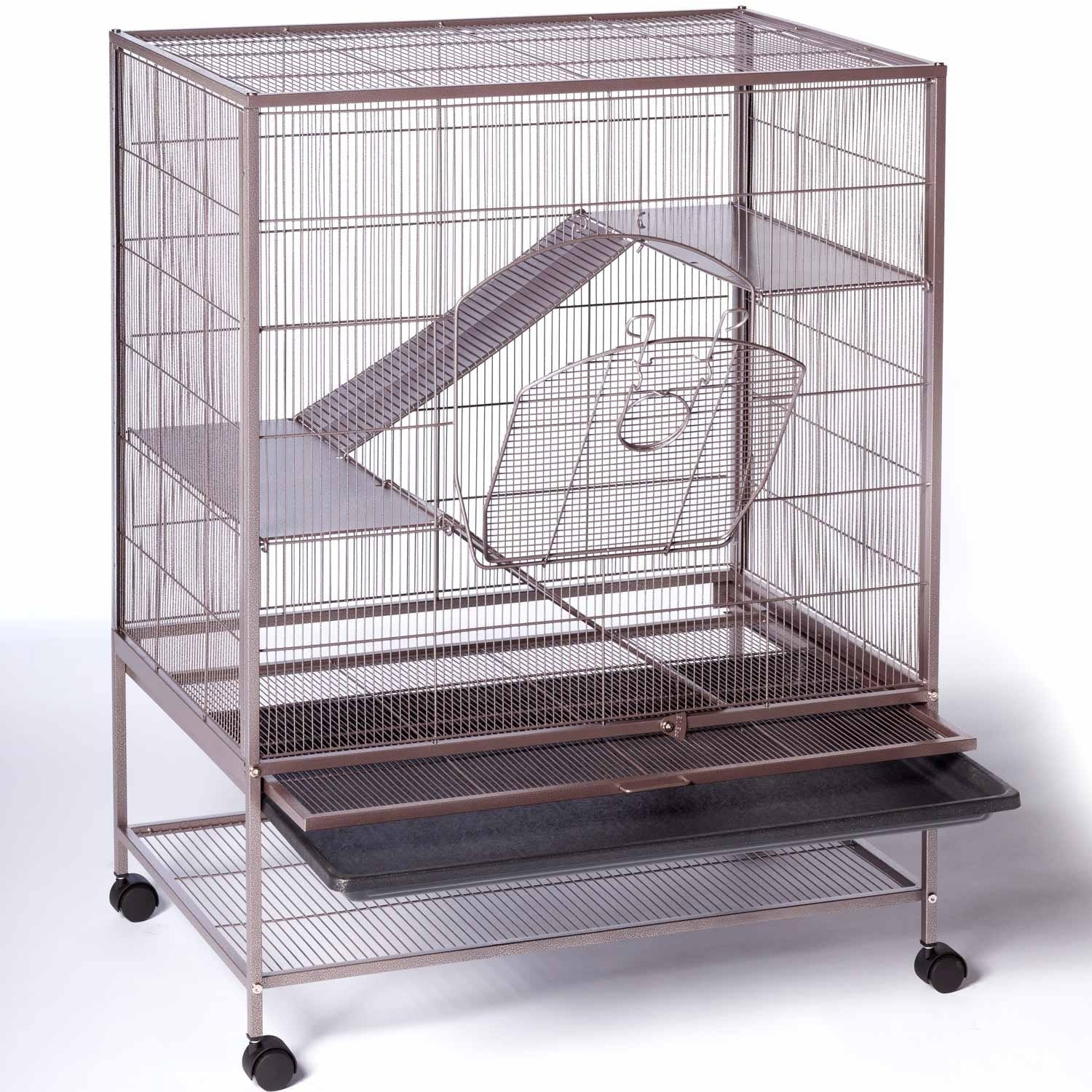Shop Prevue Pet Products Small Brown Metal Cage with Pull-out Bottom ...