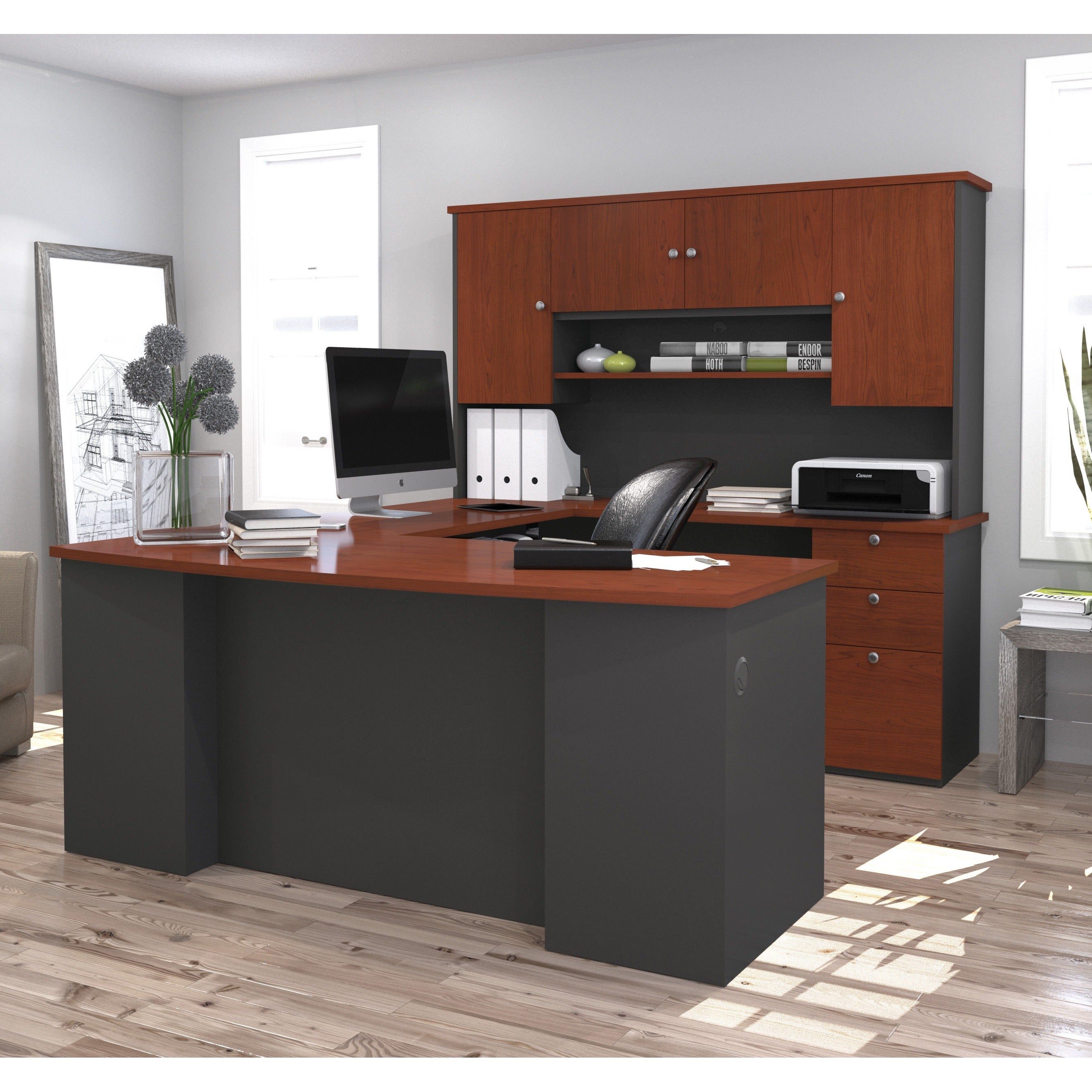 Bestar Manhattan U-shaped Workstation Desk - Free Shipping Today -  Overstock.com - 13793912