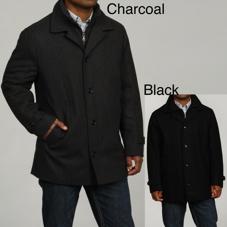 9cb5de5ffe6ff Shop London Fog Men s Wool Blend Car Coat FINAL SALE - Free Shipping ...