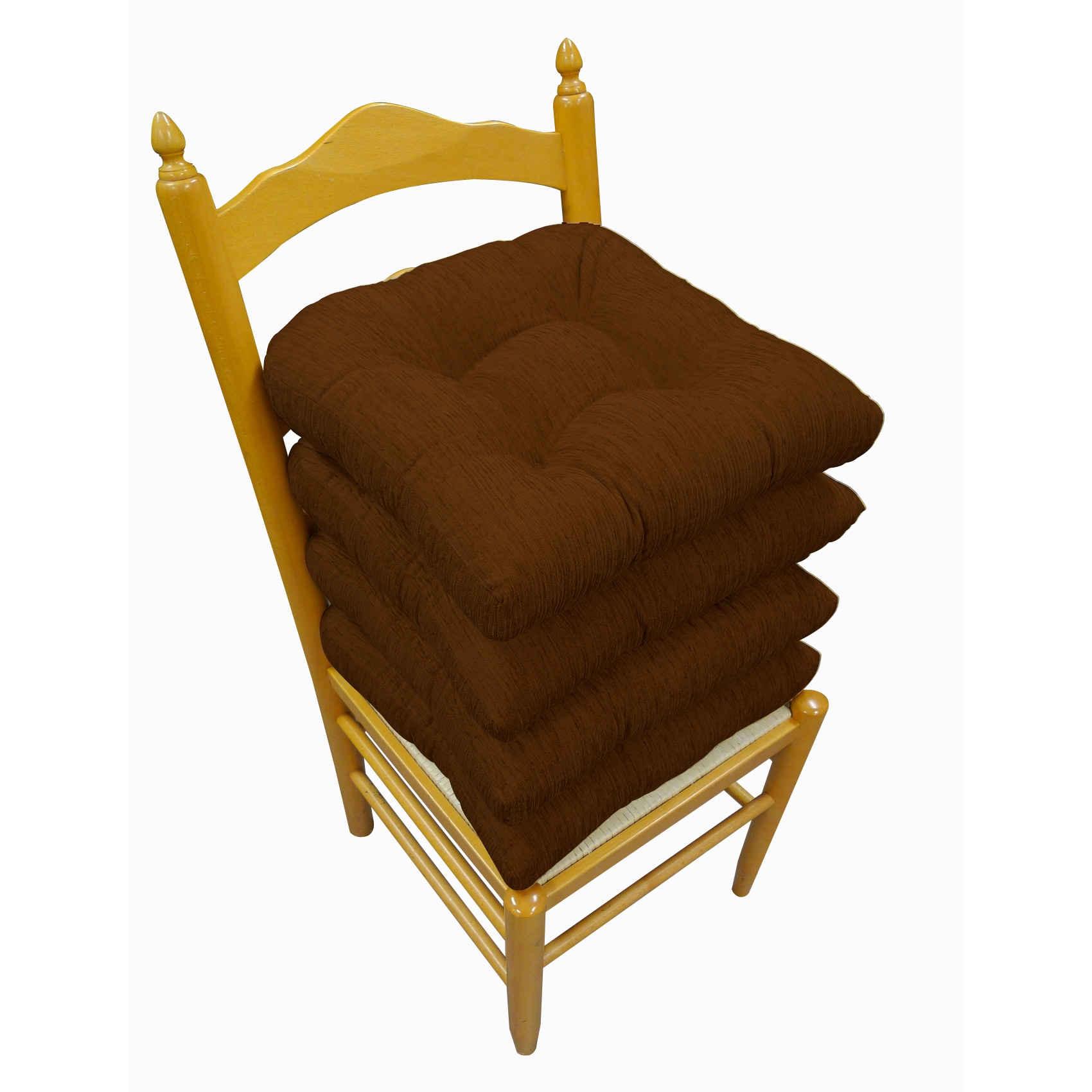 Shop Elegance Chenille Non Slip Chair Pads (Set Of 4)   Free Shipping Today    Overstock.com   6137638
