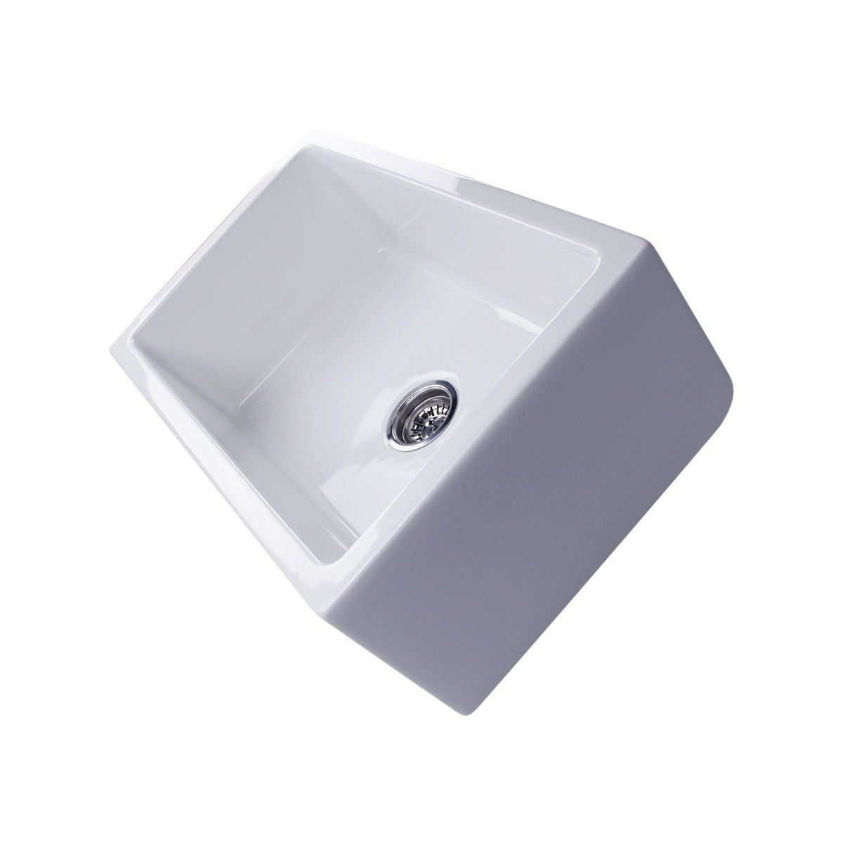 Shop White Italian Fireclay 30 Inch Farmhouse Kitchen Sink   On Sale   Free  Shipping Today   Overstock.com   6150879
