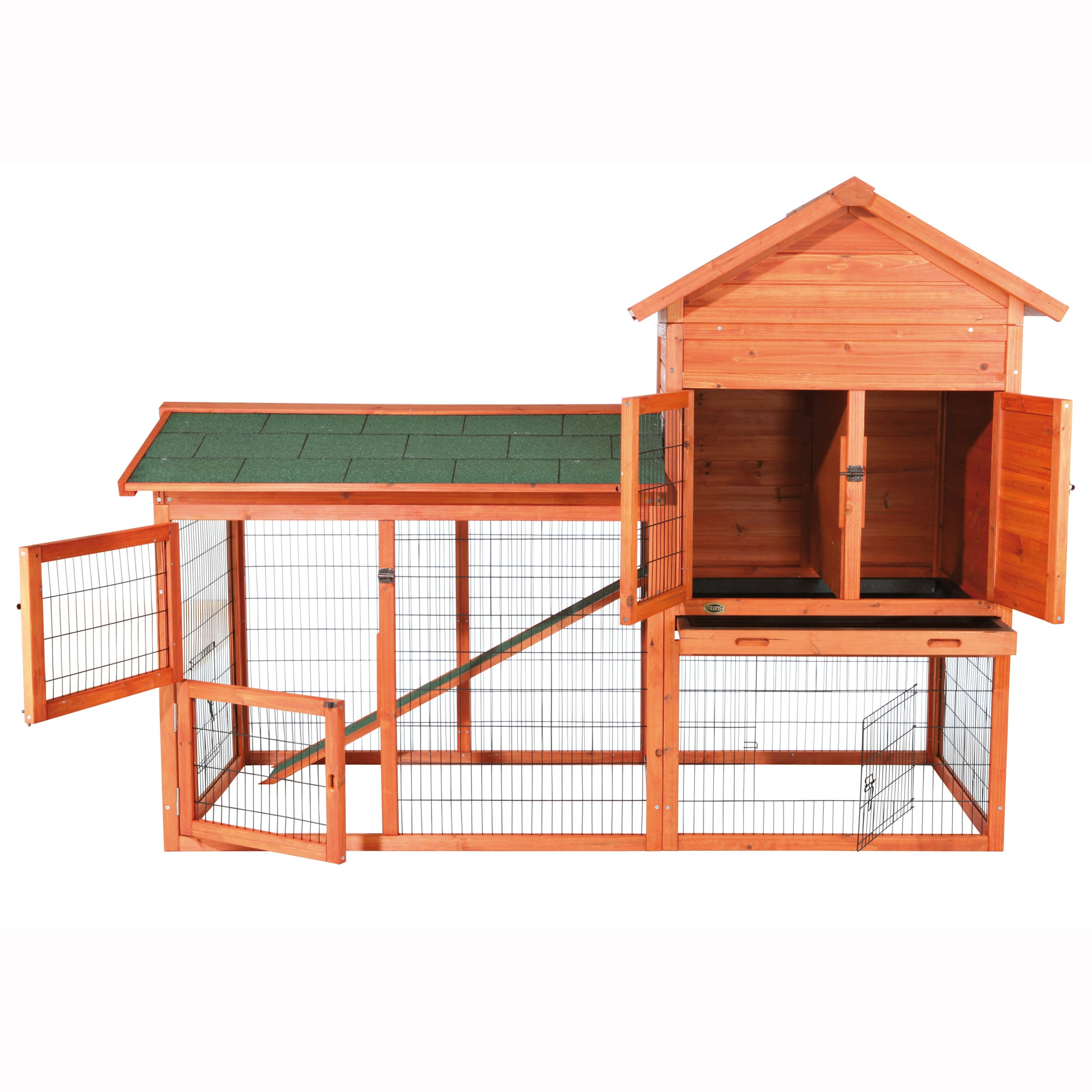 roof hutch sloped amazon dp com outdoor rabbit with l pet products garden trixie