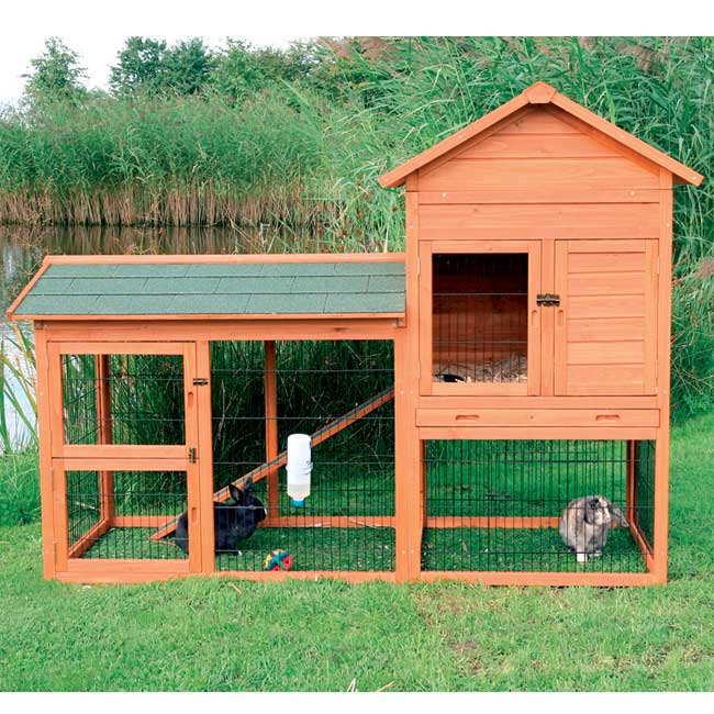 Shop Trixie Rabbit Hutch With Outdoor Run Free Shipping Today