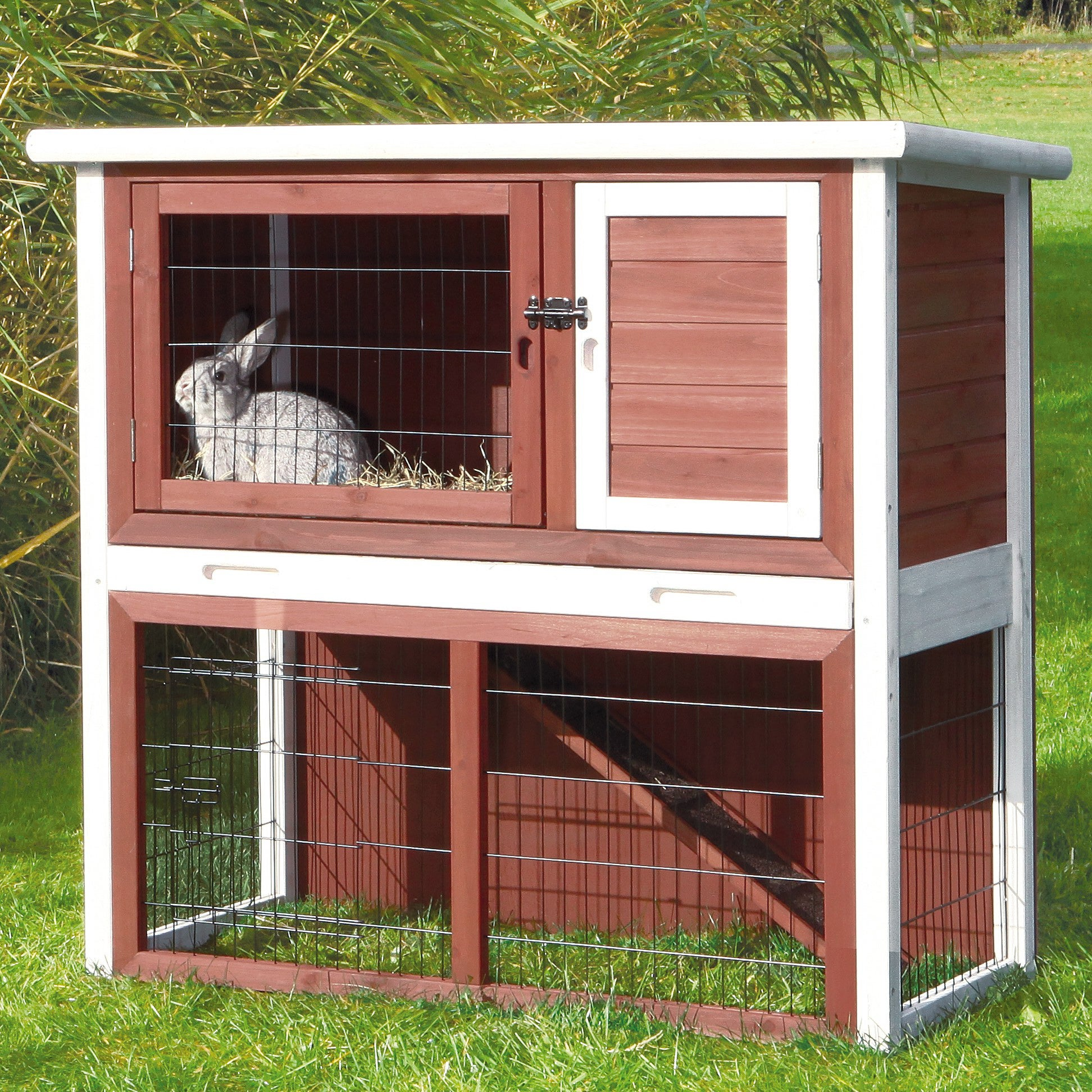 product trixie white story hutch products hayneedle rabbit master brown cfm pet