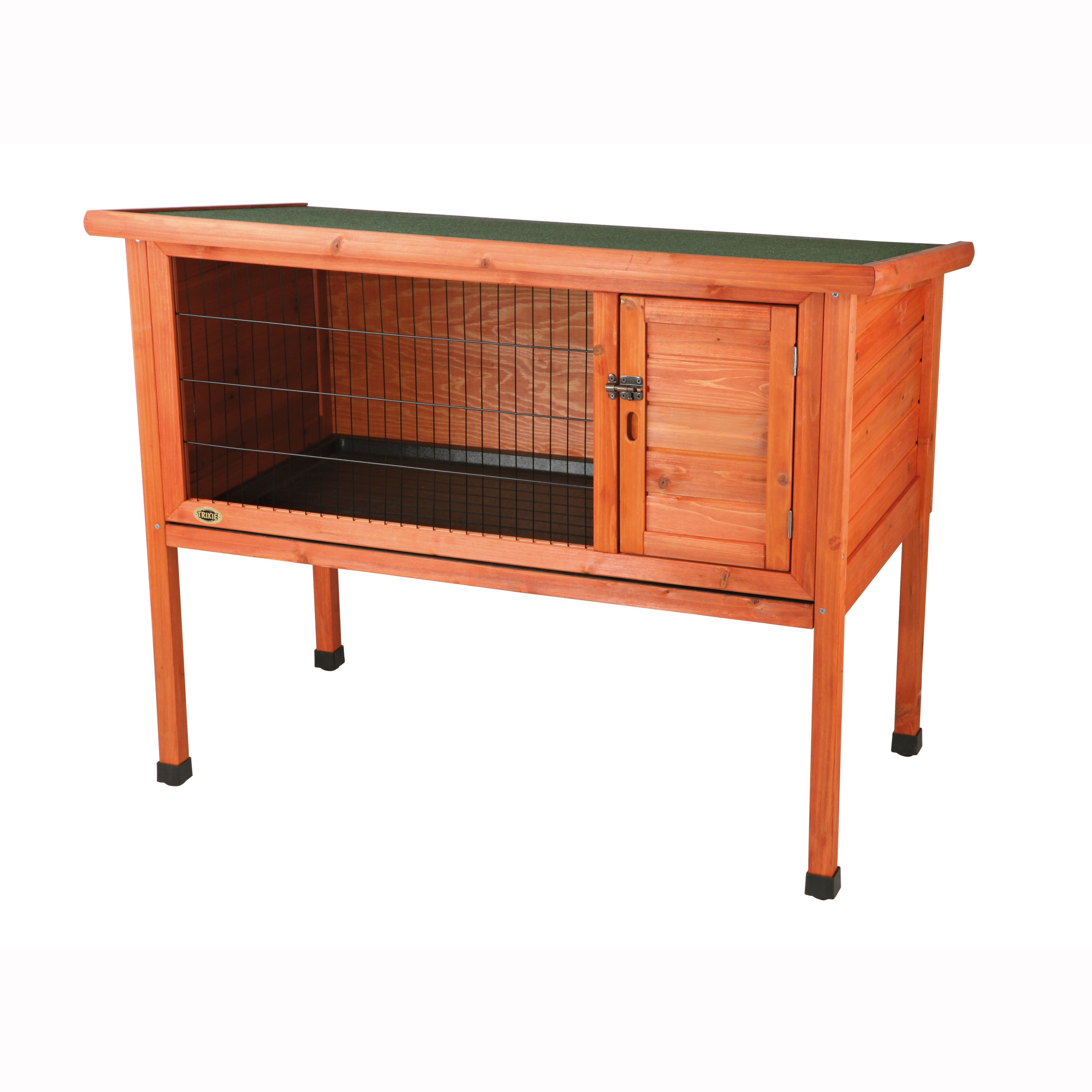 wood outdoor supplies wooden solid cage rabbit backyard hutch with run pet pawhut bunny