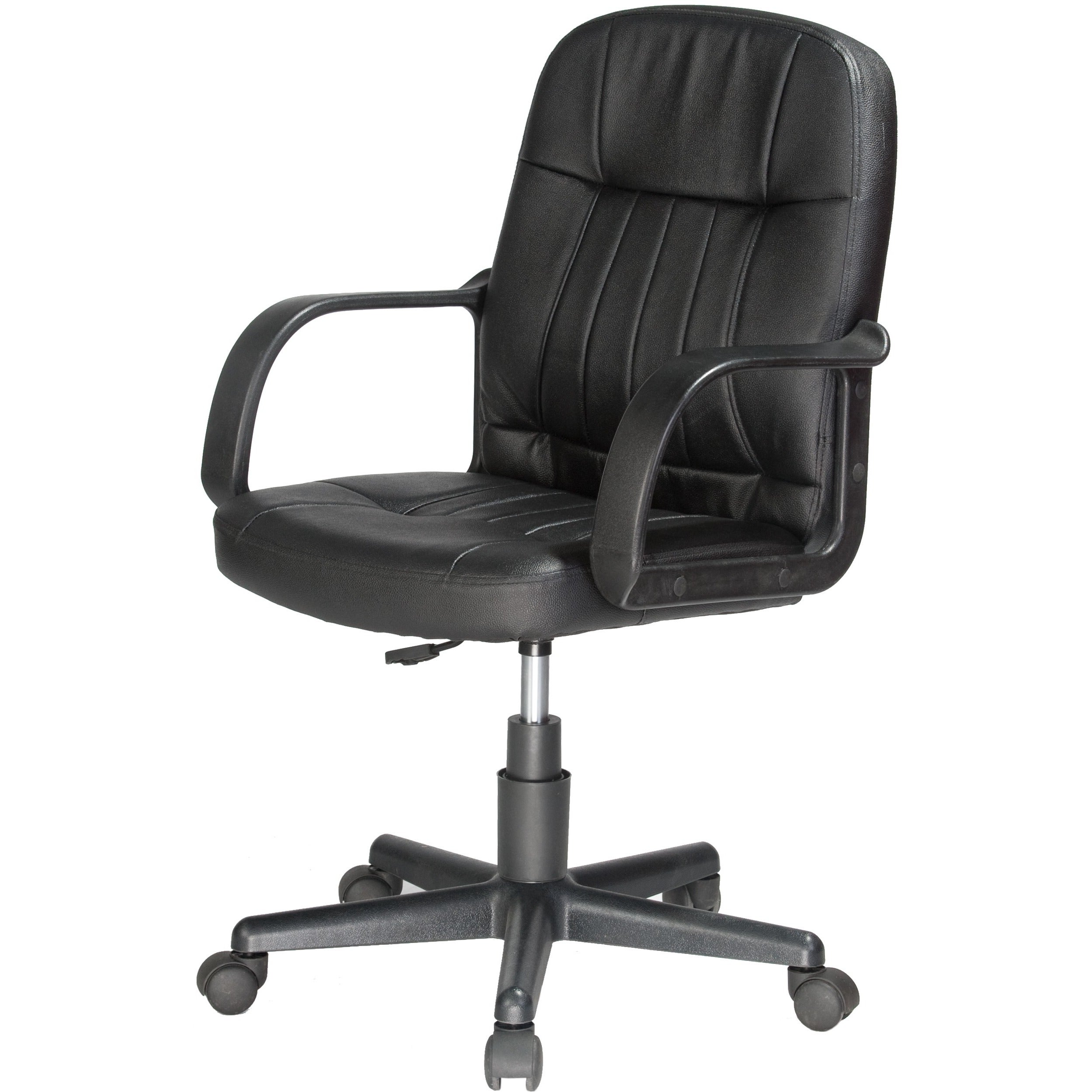 comfort office chair. Comfort Products Black Leather Mid-back Office Chair - Free Shipping Today Overstock 13818873