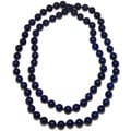Pearlz Ocean Lapis Lazuli Knotted Endless Necklace