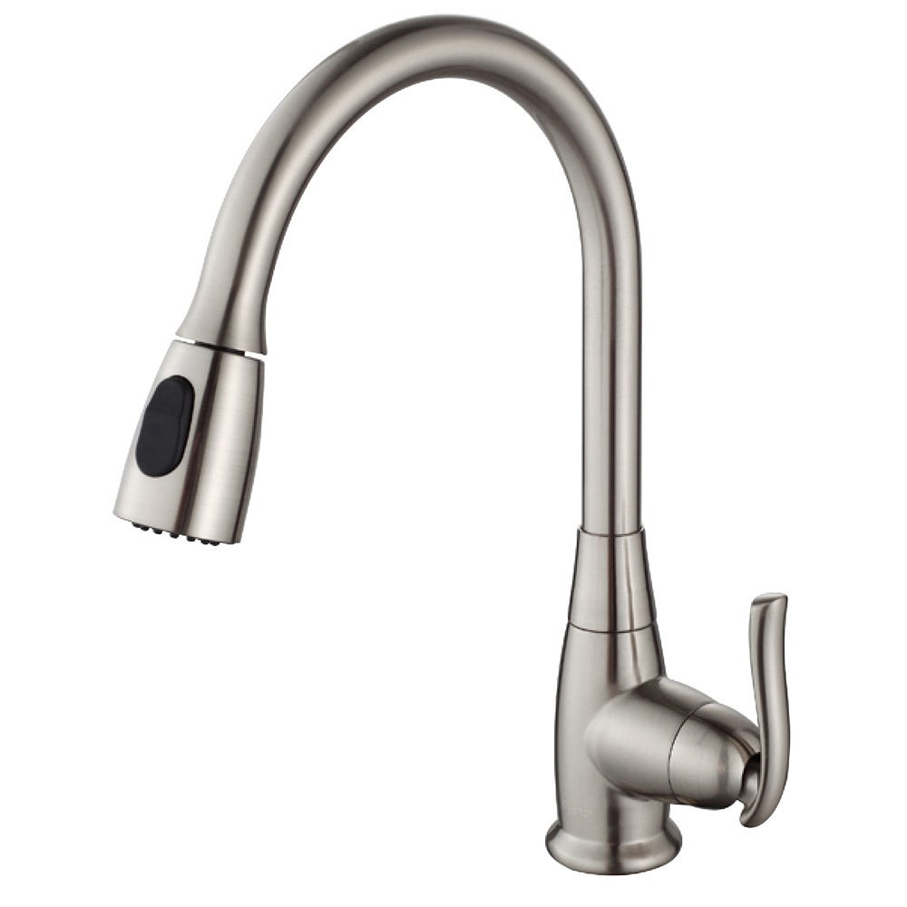 id stainless nwp spray faucet with large kitchen brass down pull newport steel jacobean product