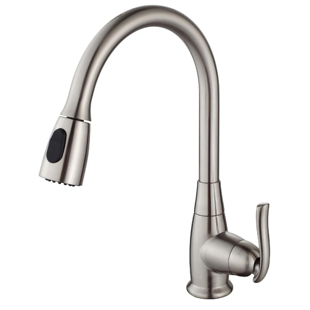 with kitchen faucet contemporary steel kes out handle down style stainless pull spray sus index single hole