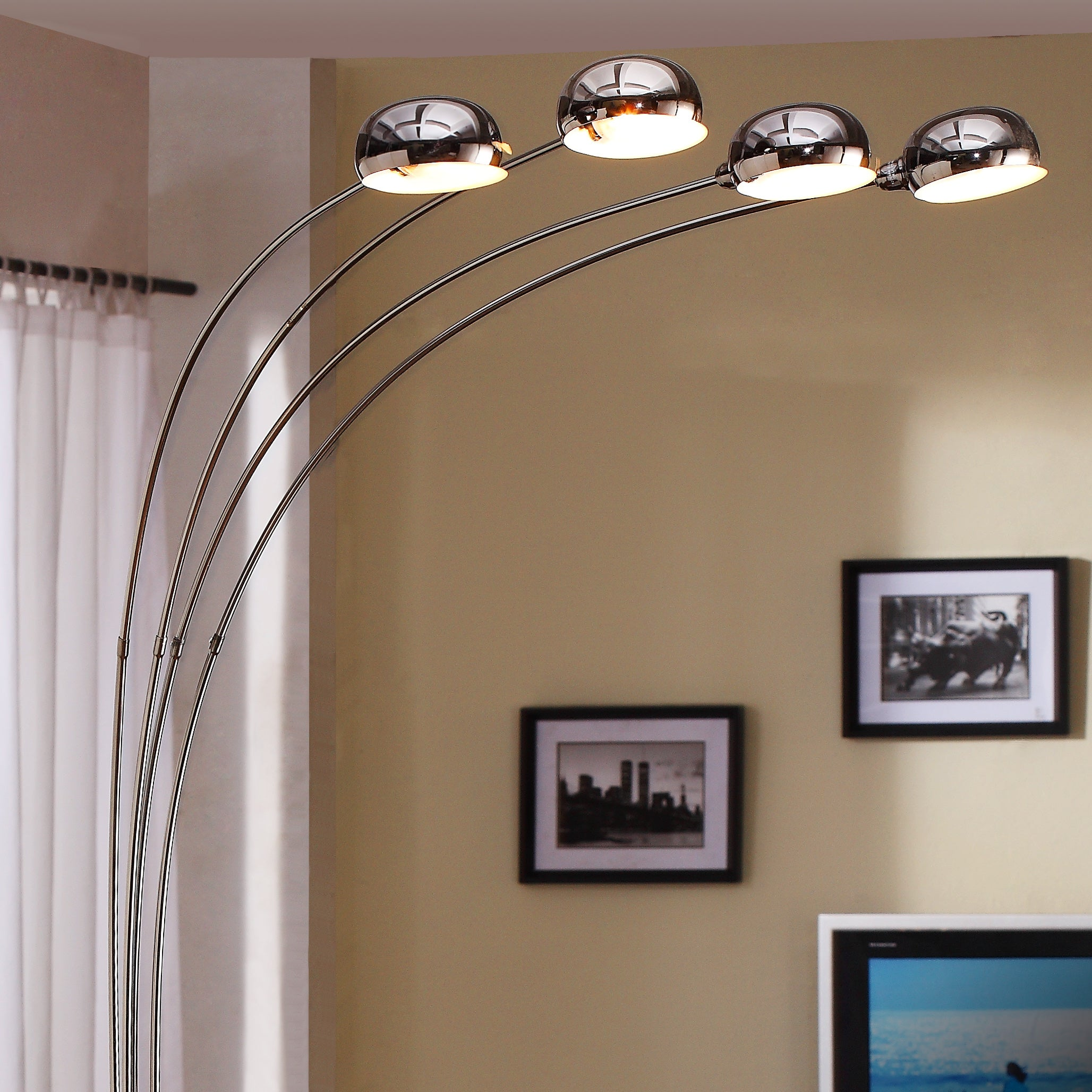 Modern Chrome Metal Arch Lamp by iNSPIRE Q Classic - Free Shipping Today -  Overstock.com - 13828800