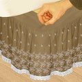 Grand Luxe 'Hike Up Your Skirt' Embroidered Adjustable 16-inch Drop Queen-size Bedskirt