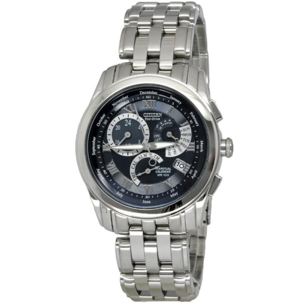 Shop Citizen Men's Eco-Drive Calibre 8700 Perpetual Calendar Watch - Free  Shipping Today - Overstock.com - 6179928