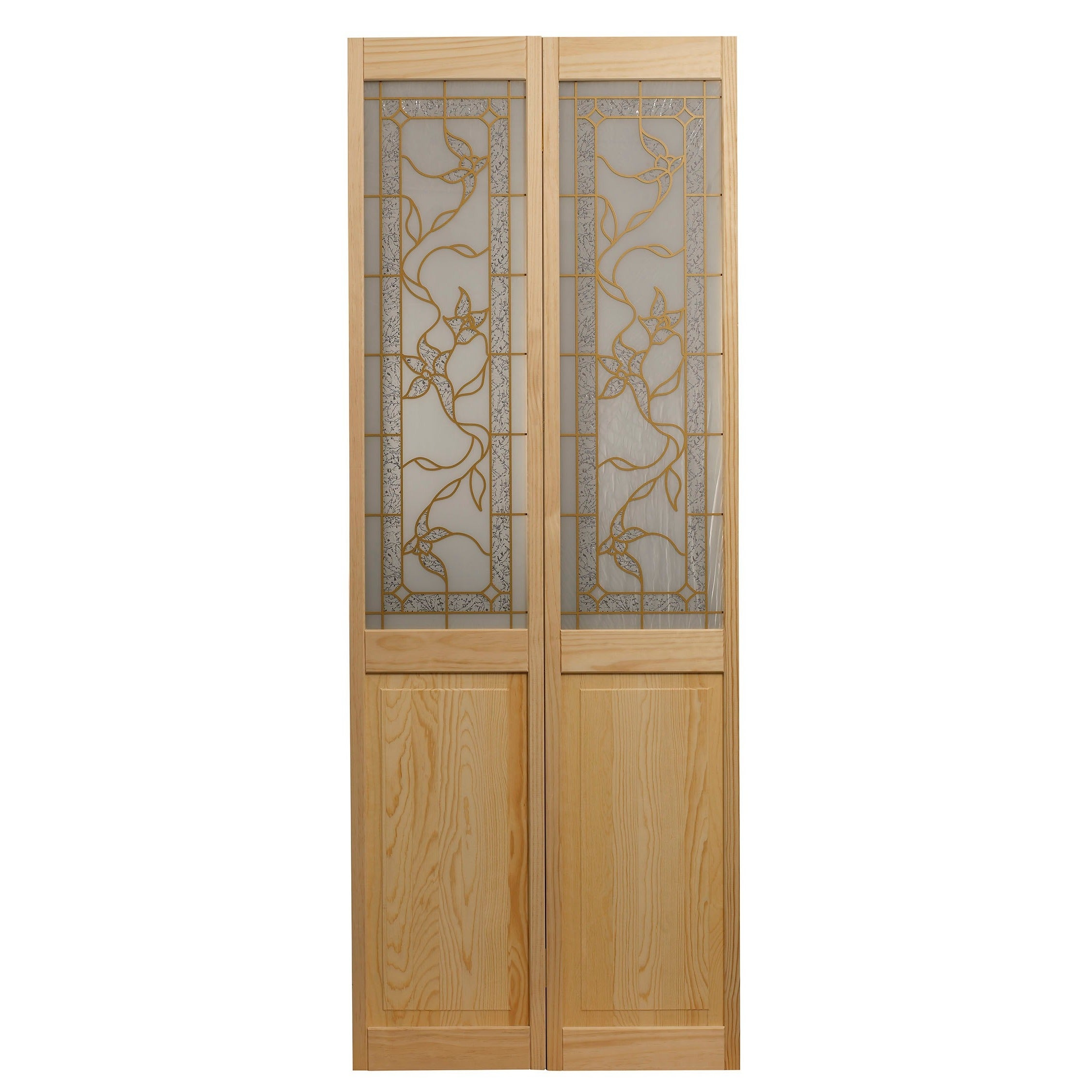 Shop Giverny 24x805 Inch Glass Over Panel Unfinished Bifold Door