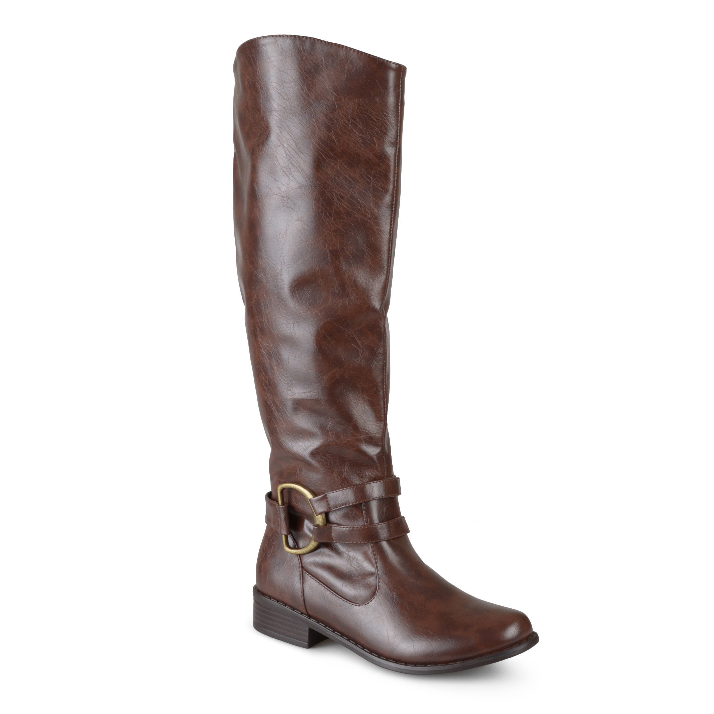 e89ae4680bfe Journee Collection Women s  Charming-01  Regular and Wide-calf Knee-high  Riding Boot