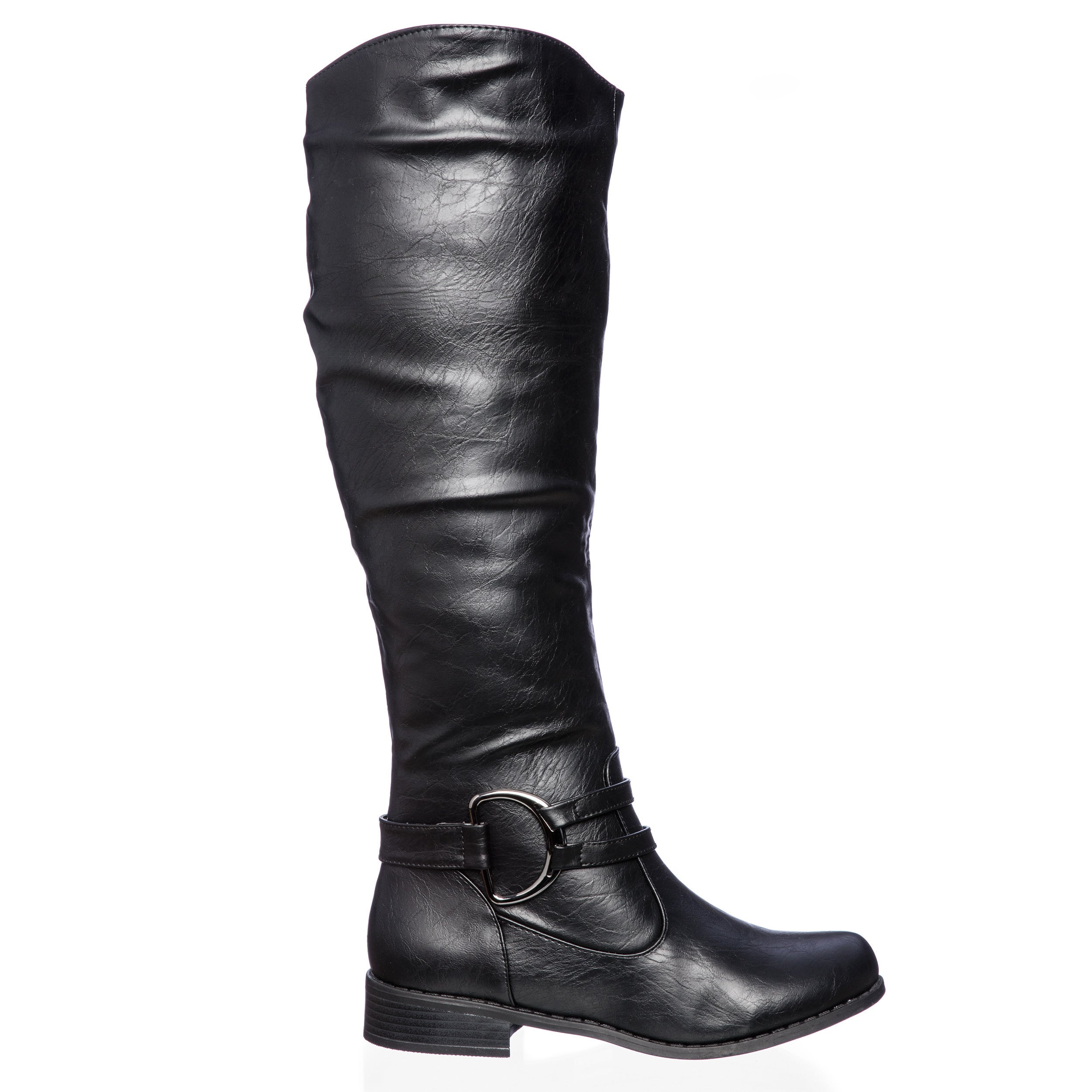 Journee Collection Women's 'Charming-01' Regular and Wide-calf Knee-high  Riding Boot - Free Shipping Today - Overstock.com - 13839009