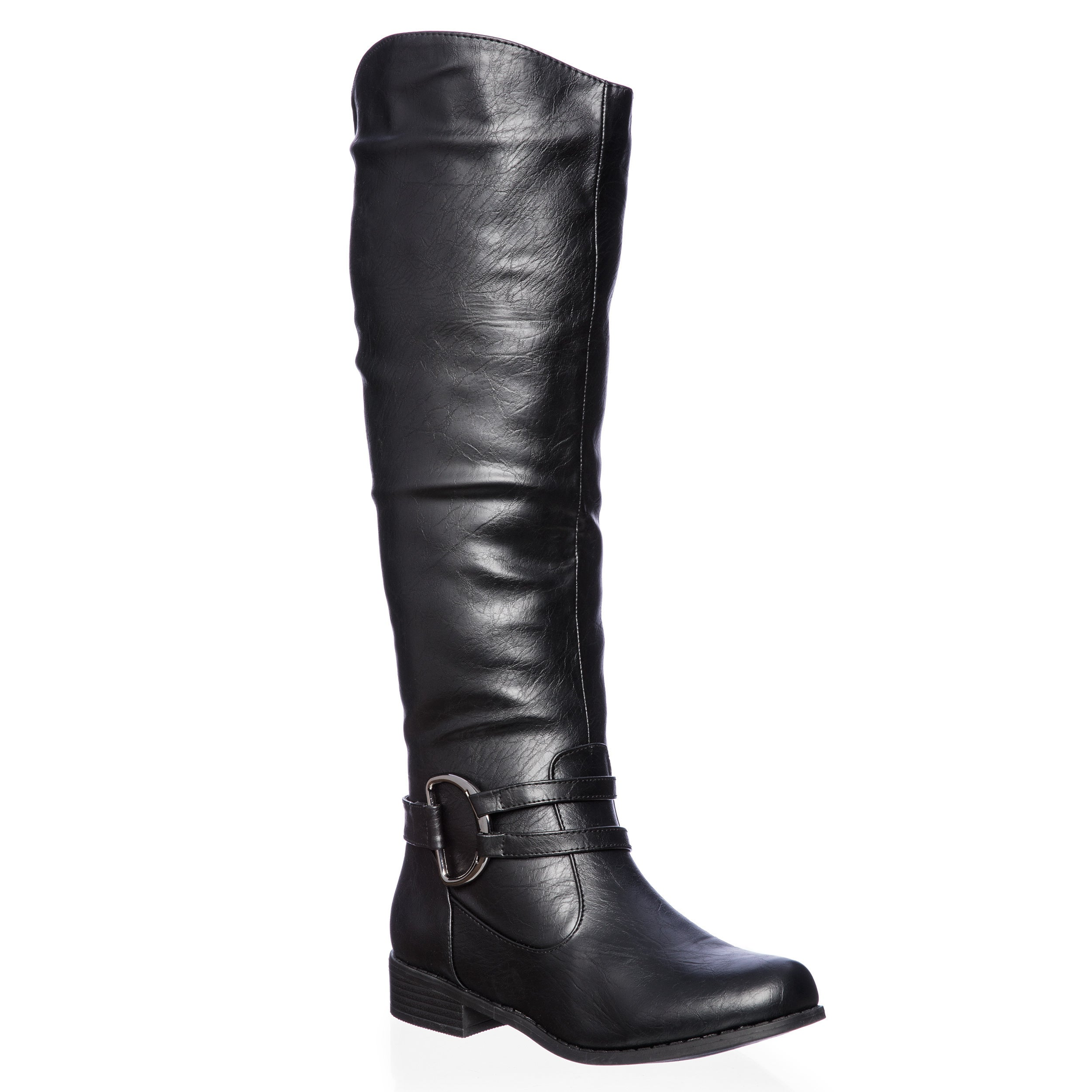 e143bbd2ec2 Journee Collection Women s  Charming-01  Regular and Wide-calf Knee-high  Riding Boot