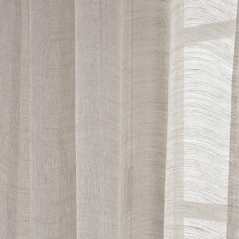 Shop Exclusive Fabrics Linen Open Weave Cream Sheer Curtain Panel