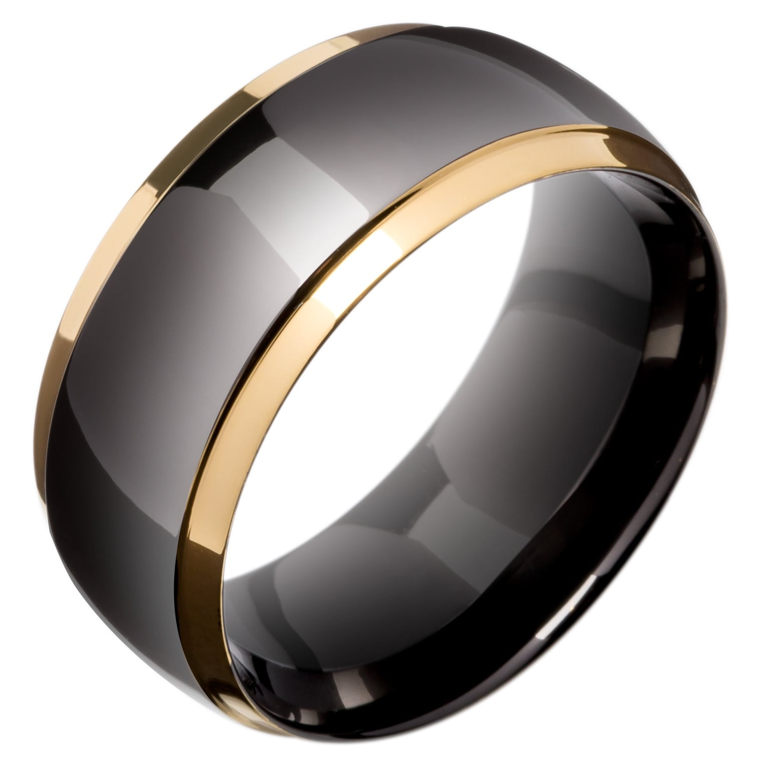 in david two normal row jewelry streamline titanium black ring rings yurman diamond lyst gallery band product