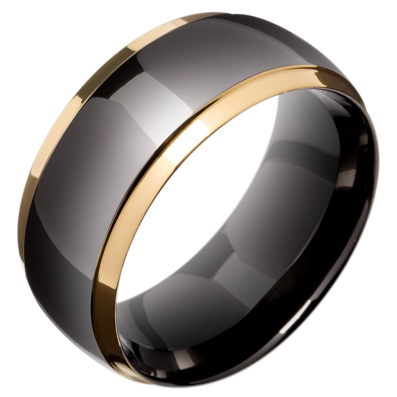 triton satin black carbide tungsten ring rings band s wedding bands brushed men
