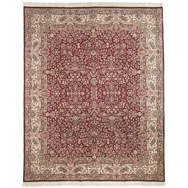 royal red carpet texture. Shop Safavieh Couture Royal Kerman Hand-Knotted Red/ Ivory Wool Area Rug - 6\u0027 X 9\u0027 On Sale Free Shipping Today Overstock.com 6190721 Red Carpet Texture B