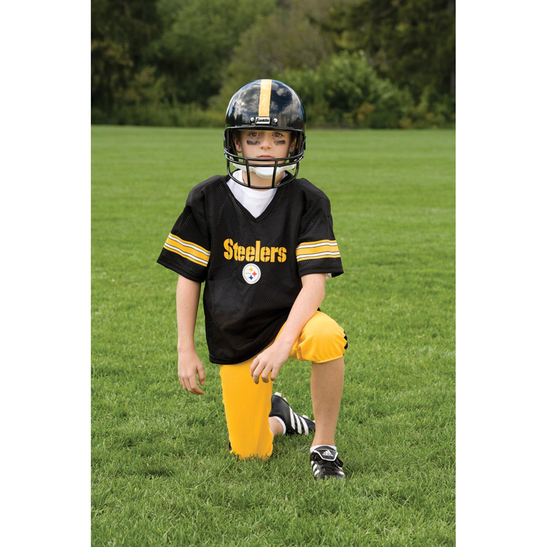 Shop Franklin Sports NFL Pittsburgh Steelers Youth Uniform Set - Free  Shipping Today - Overstock - 6192079 d4c6be10c