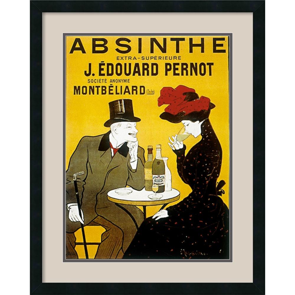 Shop Leonetto Cappiello \'Absinthe\' 24 x 30-inch Framed Art Print ...
