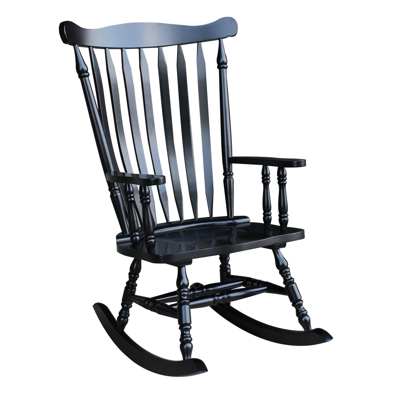 Shop Colonial Antique Black Rocking Chair - Free Shipping Today -  Overstock.com - 6193234 - Shop Colonial Antique Black Rocking Chair - Free Shipping Today