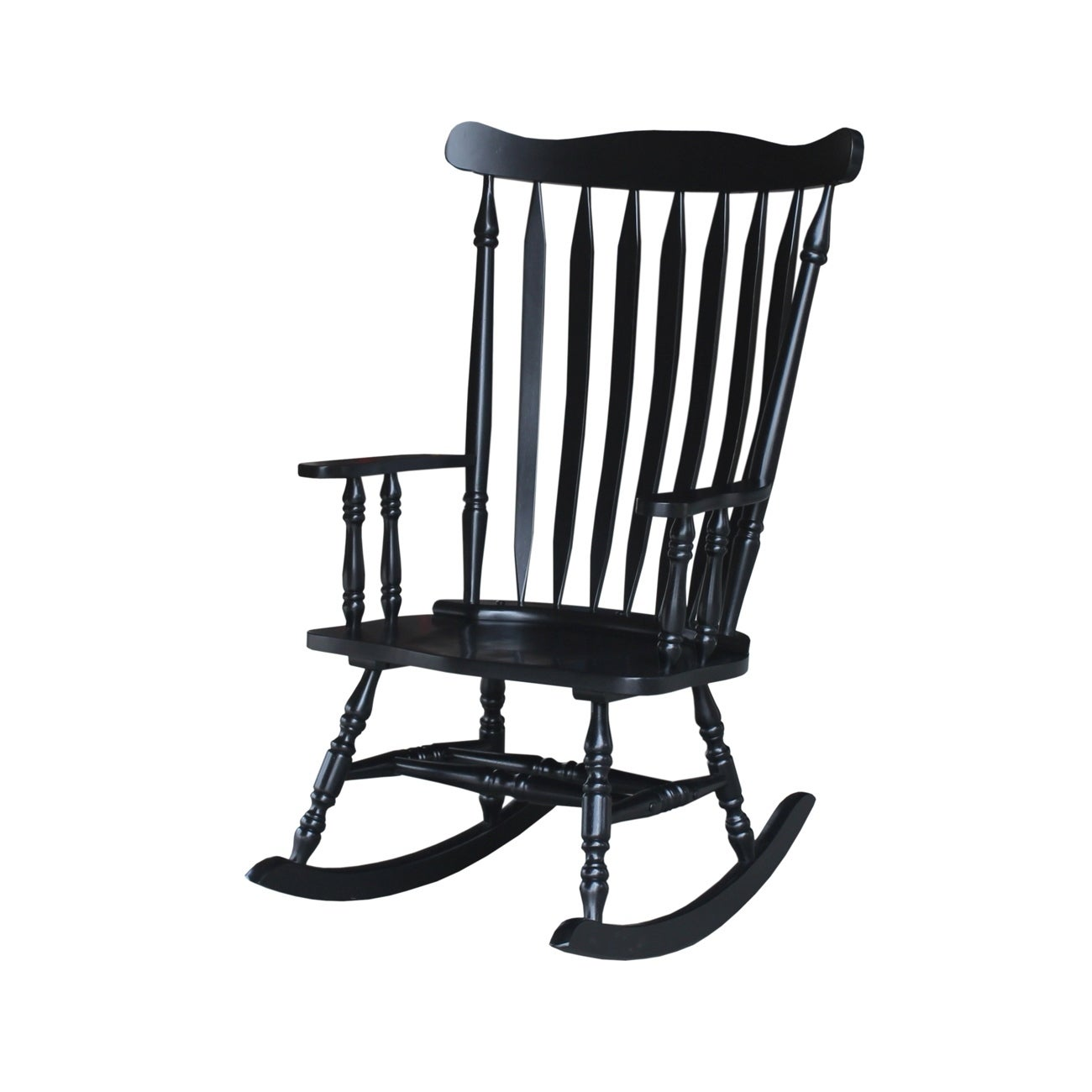 Colonial Antique Black Rocking Chair - Free Shipping Today - Overstock.com  - 13843294 - Colonial Antique Black Rocking Chair - Free Shipping Today