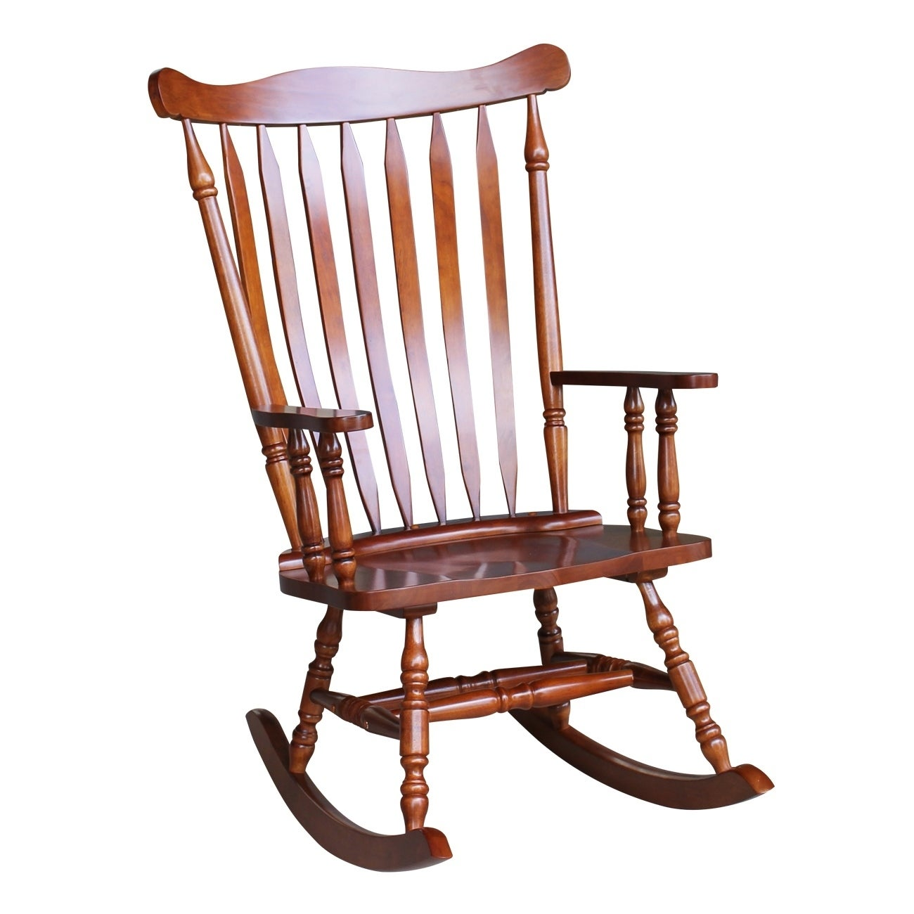 Colonial Cherry Finish Rocking Chair Free Shipping Today 13843295