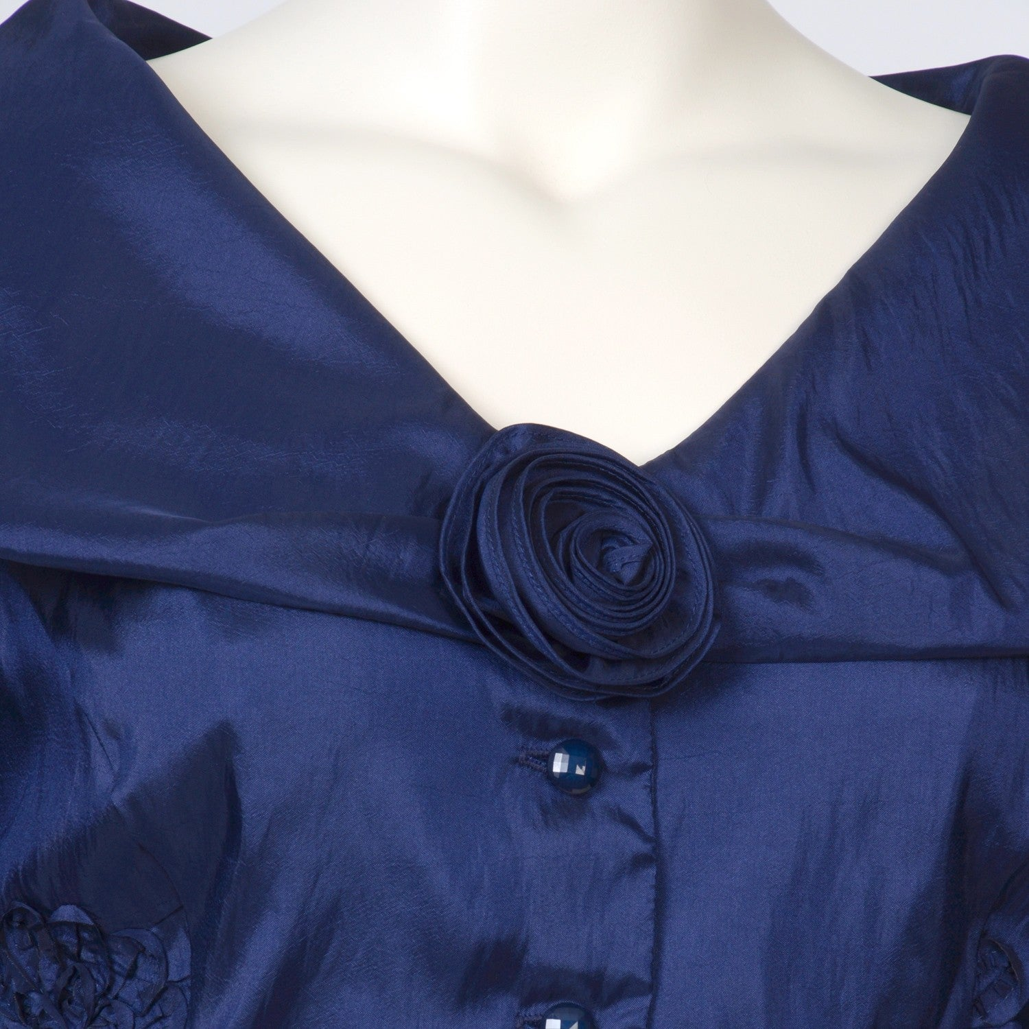 f67fcd97af67a Shop Onyx Nites Women s Plus Size Portrait Collar Taffeta Top - Free  Shipping Today - Overstock - 6193557