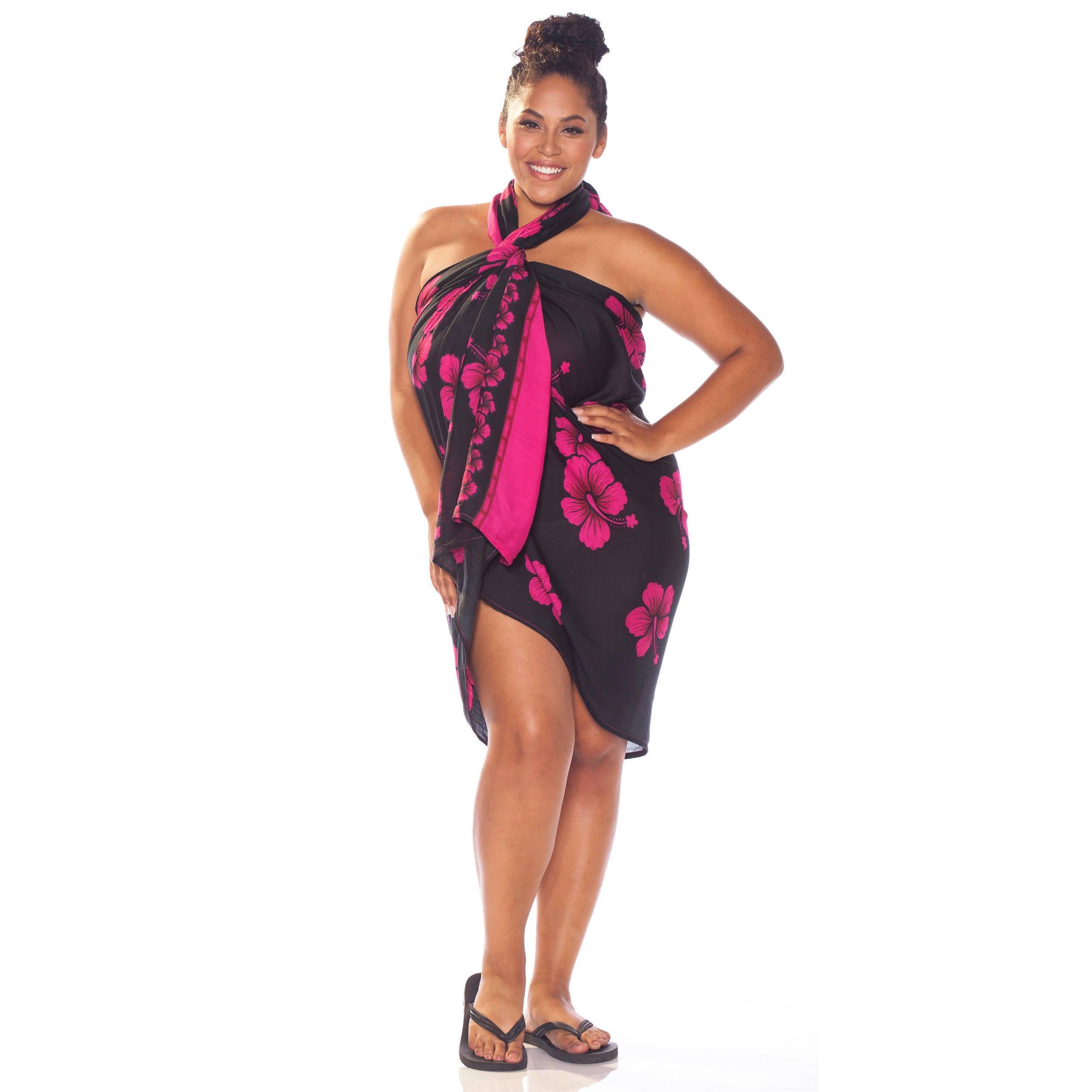 Shop handmade 1 world sarongs womens plus size hibiscus flower shop handmade 1 world sarongs womens plus size hibiscus flower sarong indonesia on sale free shipping on orders over 45 overstock 6193616 izmirmasajfo