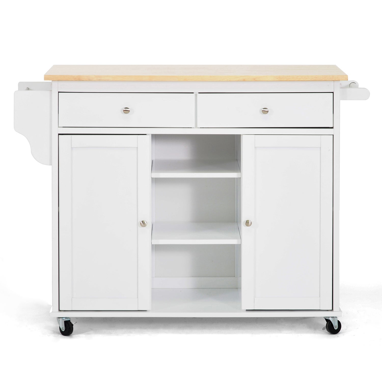 Meryland White Modern Kitchen Island Cart Free Shipping Today