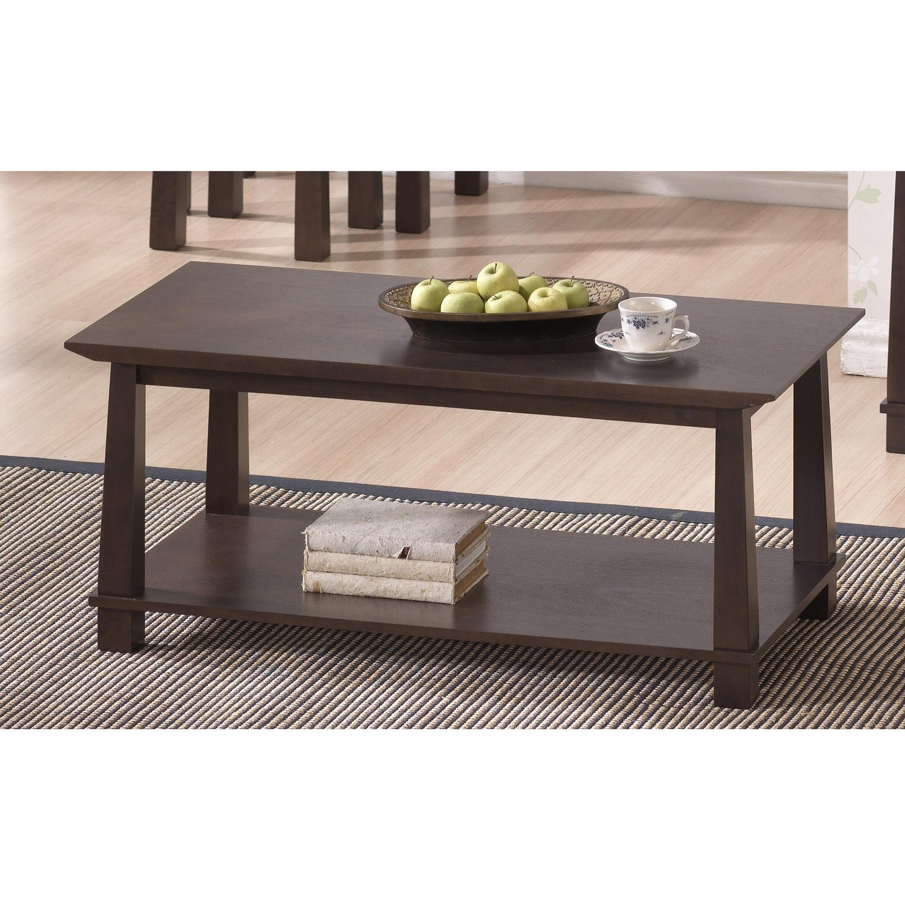 havana brown wood modern coffee table  free shipping today  overstockcom . havana brown wood modern coffee table  free shipping today