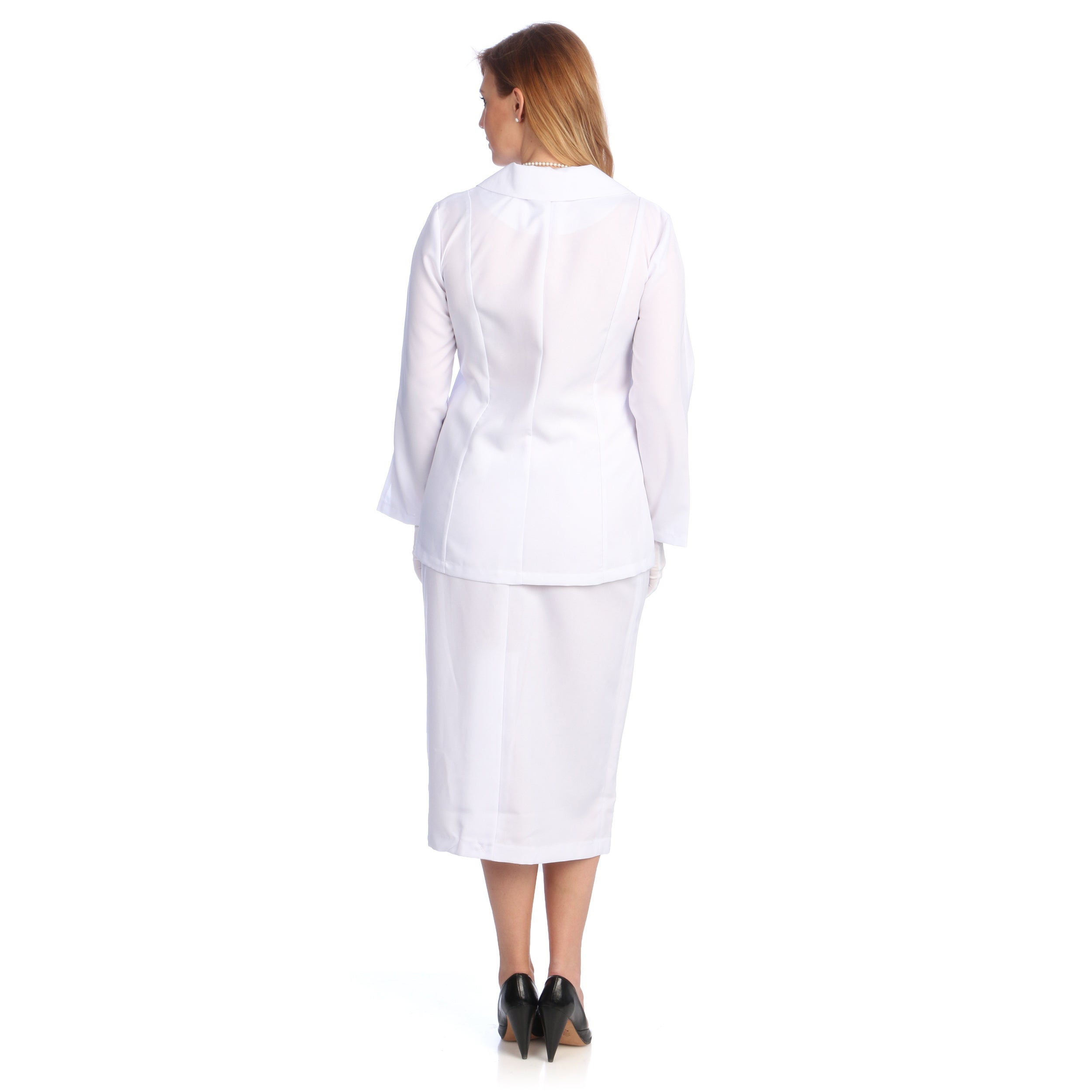 71e39f56e9b Shop Divine Apparel Women s Plus Size Classic Fashion Skirt Suit - Free  Shipping Today - Overstock - 6199194