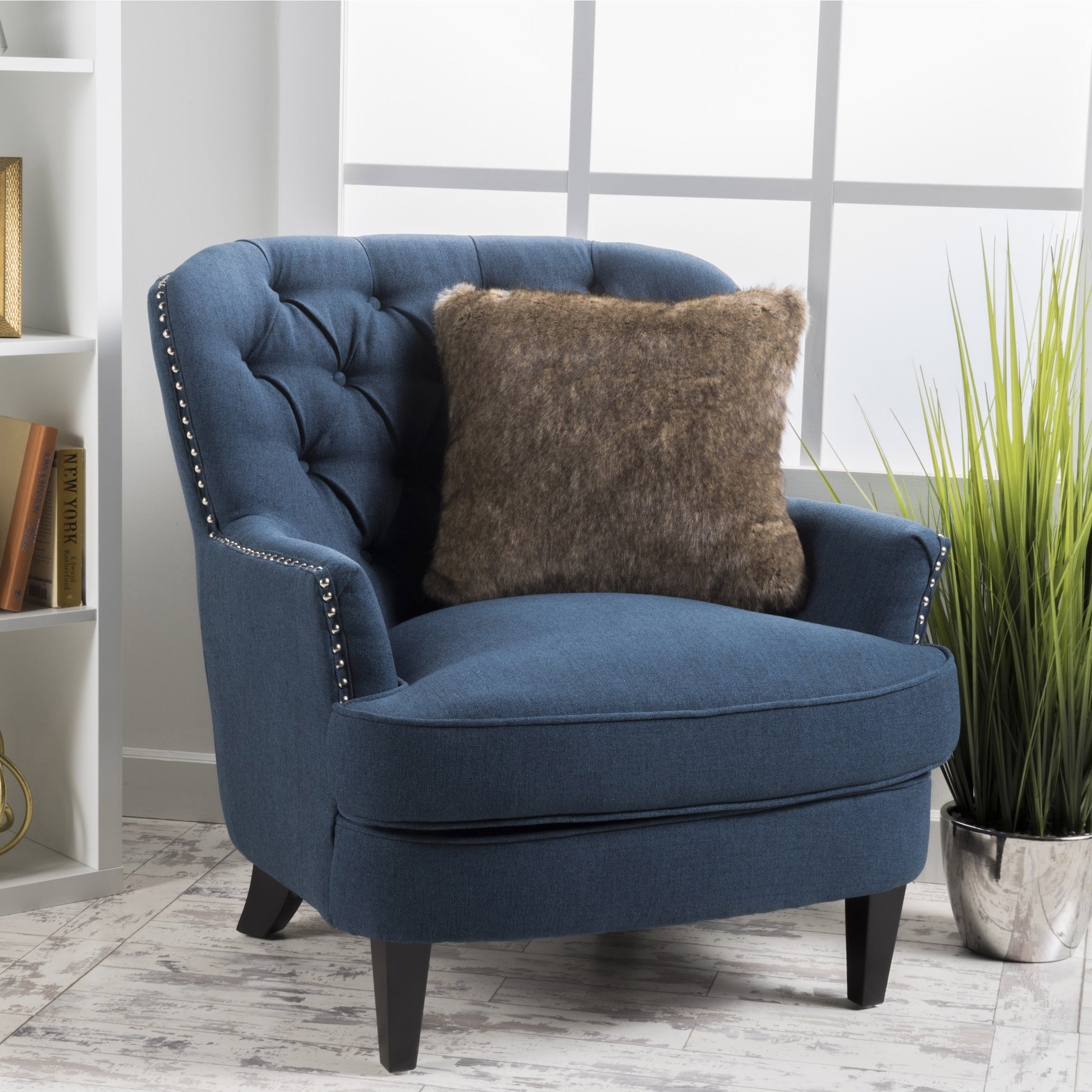 Charmant Shop Tafton Tufted Oversized Fabric Club Chair By Christopher Knight Home    On Sale   Free Shipping Today   Overstock.com   6201477