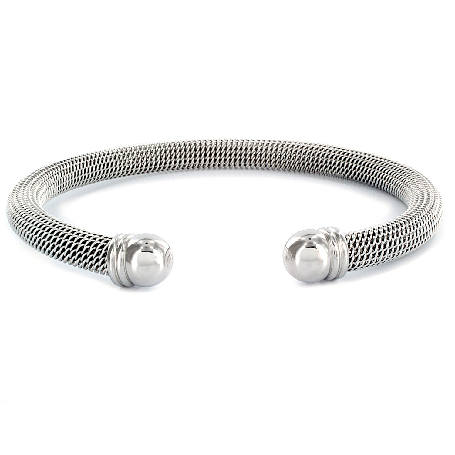 Stainless Steel Domed Mesh Cuff Bracelet On Free Shipping Orders Over 45 6206066
