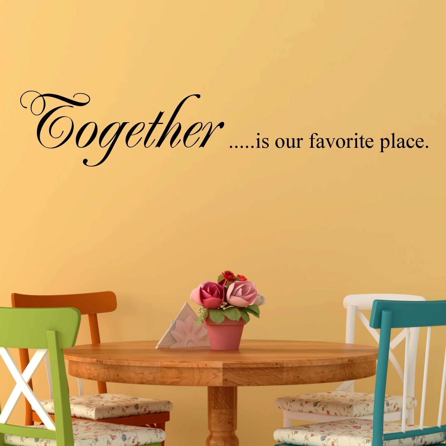 Shop Vinyl \'Together is our Favorite Place\' Wall Decal - Free ...