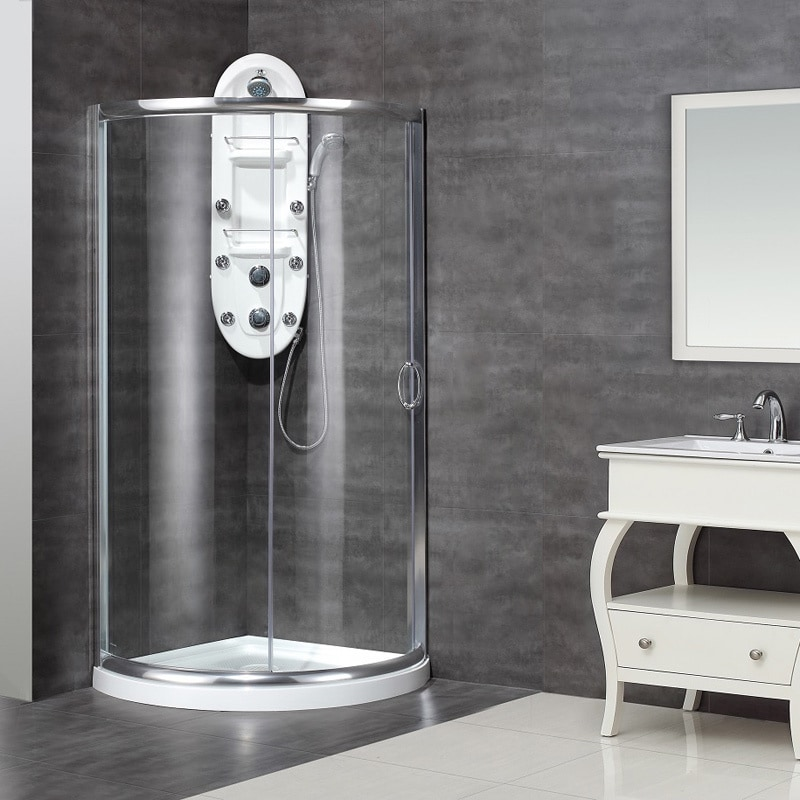 Aston 36 in x 36 in semi frameless round bypass shower enclosure in aston 36 in x 36 in semi frameless round bypass shower enclosure in chrome with base free shipping today overstock 13862925 planetlyrics Gallery