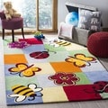 Safavieh Handmade Children's Garden Friends New Zealand Wool Rug (2' x 3')