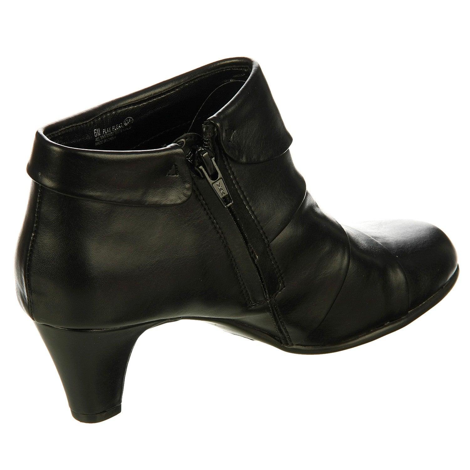 2647104f52b Shop Aerosoles Women s  Play Pleat  Black Pleated Booties - Free Shipping  On Orders Over  45 - Overstock - 6220760